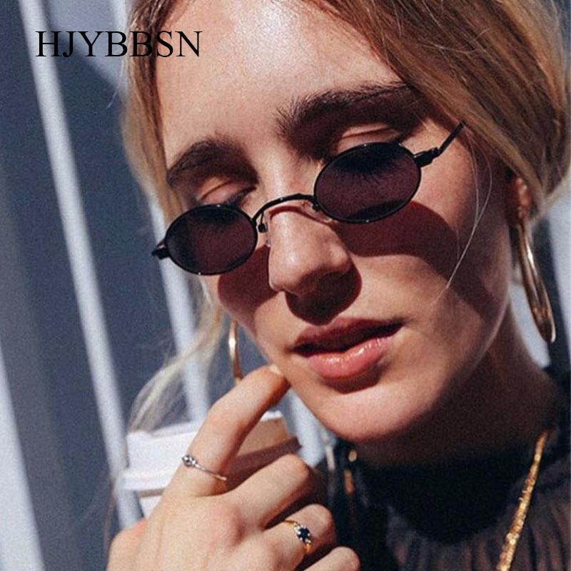 272042c4eb HJYBBSN 2018 New Small Oval Steampunk Sunglasses Fashion Lady Women Men Vintage  Brand Designer Round Sun Glasses for Female Male Round Sun Glasses Brand Sun  ...