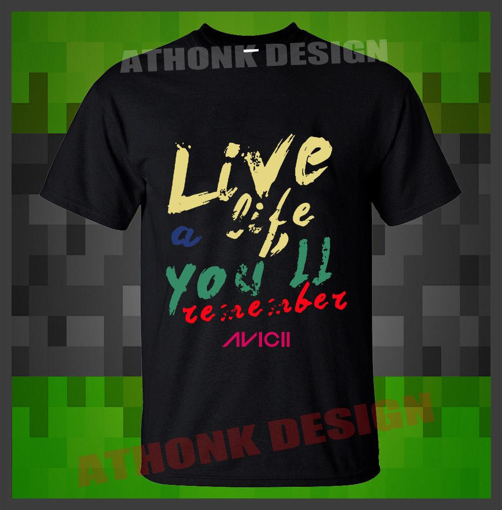RARE LIVE A LIFE YOU WILL REMEMBER T-SHIRT FAN DJ MUSIC T-SHIRT Cotton Men  T Shirts Classical Top Tee Basic Models tee shirt