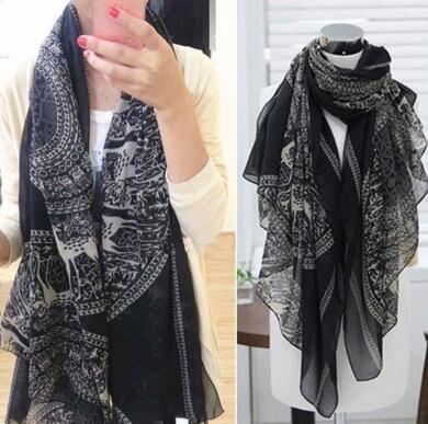 f992f99351737 165X85cm Fashion Vintage Women Lady Long Soft Cotton Voile Print Scarves  Shawl Wrap Scarf Fawn Pashmina Leopard Scarf Knit Scarf From Yugaowei523,  ...