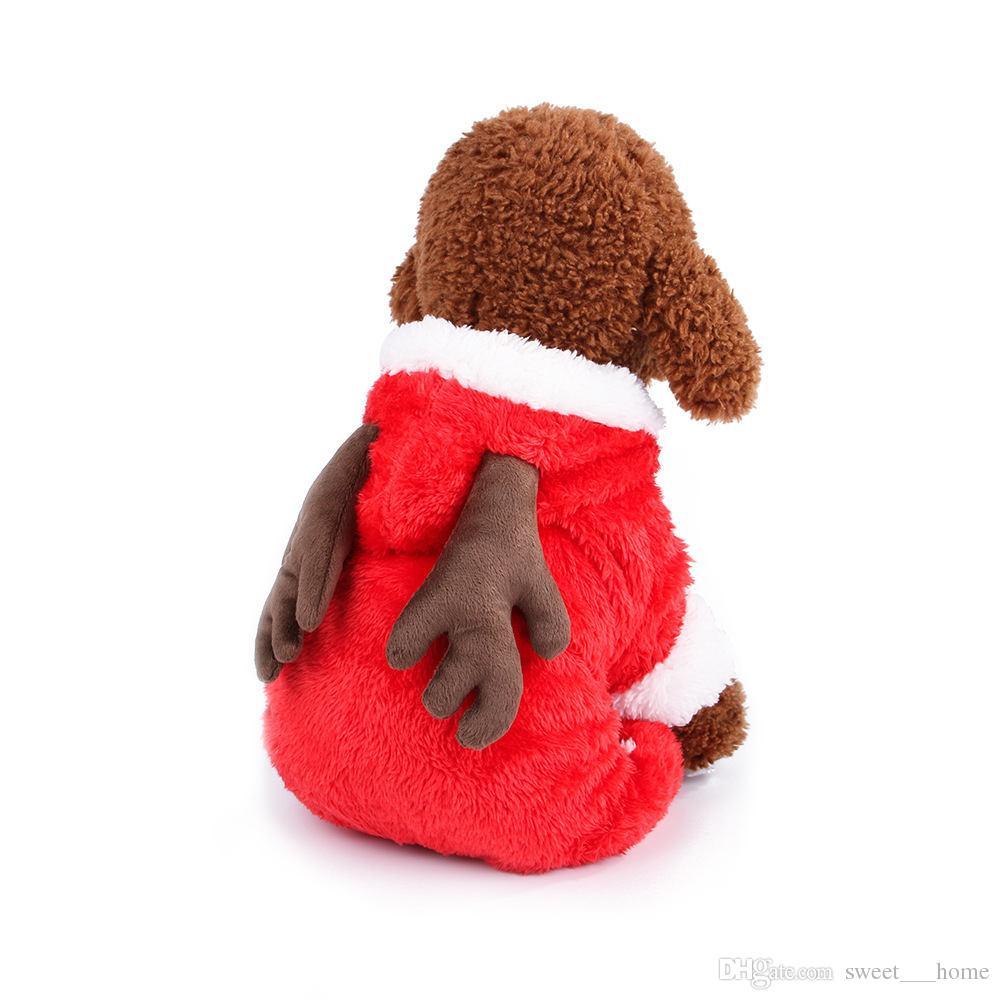 Vestiti Di Natale Per Cani.Hot 3 Size Costume Da Cane Di Natale Trasformato Panno Vestito Da Babbo Natale Classico Euramerican Pet Dog Vestiti Di Natale Abbigliamento Cane