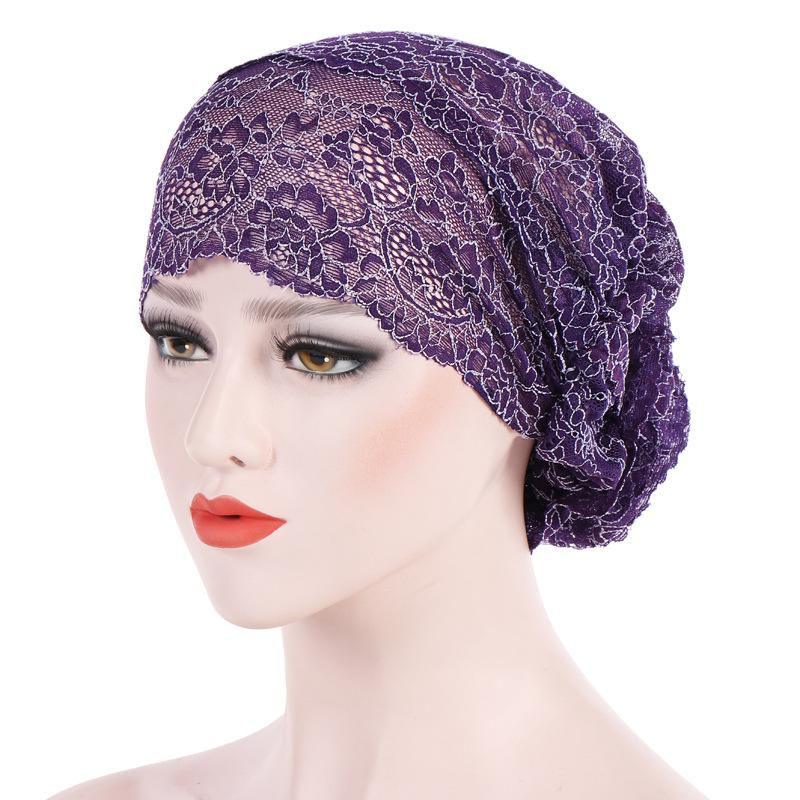 Compre Nova Rendas Floral Gorros Cap Mulheres Muçulmanos Turbante Chapéus  Gorro Lenço Turbante Cabeça Wrap Cap Sono Chemo Caps Atacado WH231 De  Wonderliu e40a1b04380