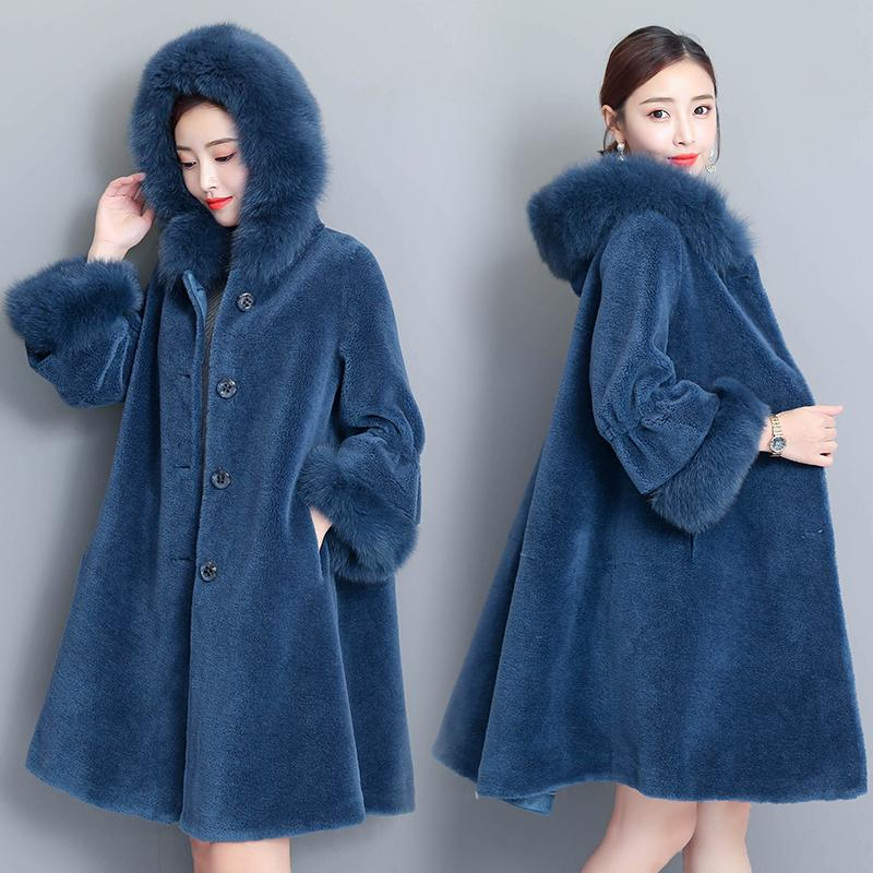 7e3f3e4dc4ec6 2019 Plus Size Faux Fur Long Coat Women New Winter Hooded Thick Ruffle  Sleeve Lambswool Woman Teddy Coat High Quality Vintage Clothes From  Cupidcloth