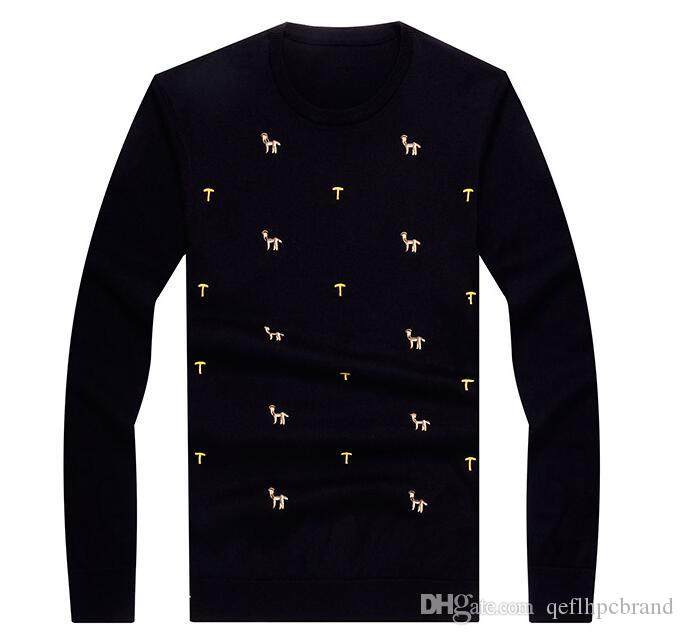 2018. Men's Clothing. Men's Sweaters. Autumn. Men sweater. Fashion and leisure men's wear. Spring. Long Sleeve. Wool and Acrylic. A004