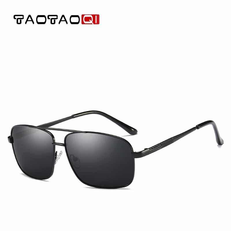a78f1b5911305 Compre TAOTAOQI Homens Polarized Óculos De Sol Retangular Quadro Clássico  Vintga Óculos De Sol Gafas Oculos De Sol Masculino Para Homens UV400 De ...