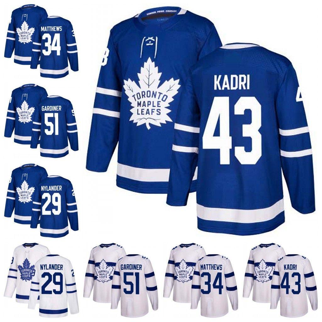 2019 Toronto Maple Leafs 34 Auston Matthews 29 William Nylander 43 Nazem  Kadri 51 Jake Gardiner Hockey Jerseys Men Women Youth Canada 2019 From  Buybestgoods ... ea02024b67