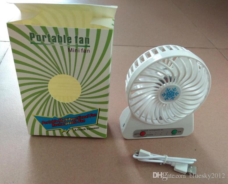 Portátil Mini USB Ventilador verano Pequeño Escritorio de Bolsillo de Mano de Aire Recargable 18650 Enfriador de Batería Para el Ministerio del Interior juguetes para niños 2018