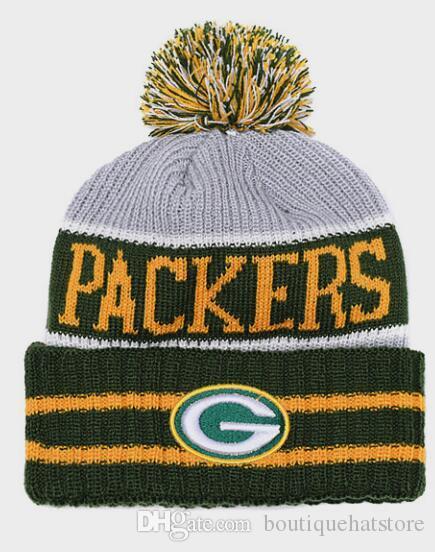 High Quality Men S Green Bay Cuffed Pom Beanie Hats Knitted SF Beanie Wool  Warm Baseball Cap Hat Women Knit Bonnet Beanies Knit Hat Hats For Sale Hats  ... aaaf94016fe