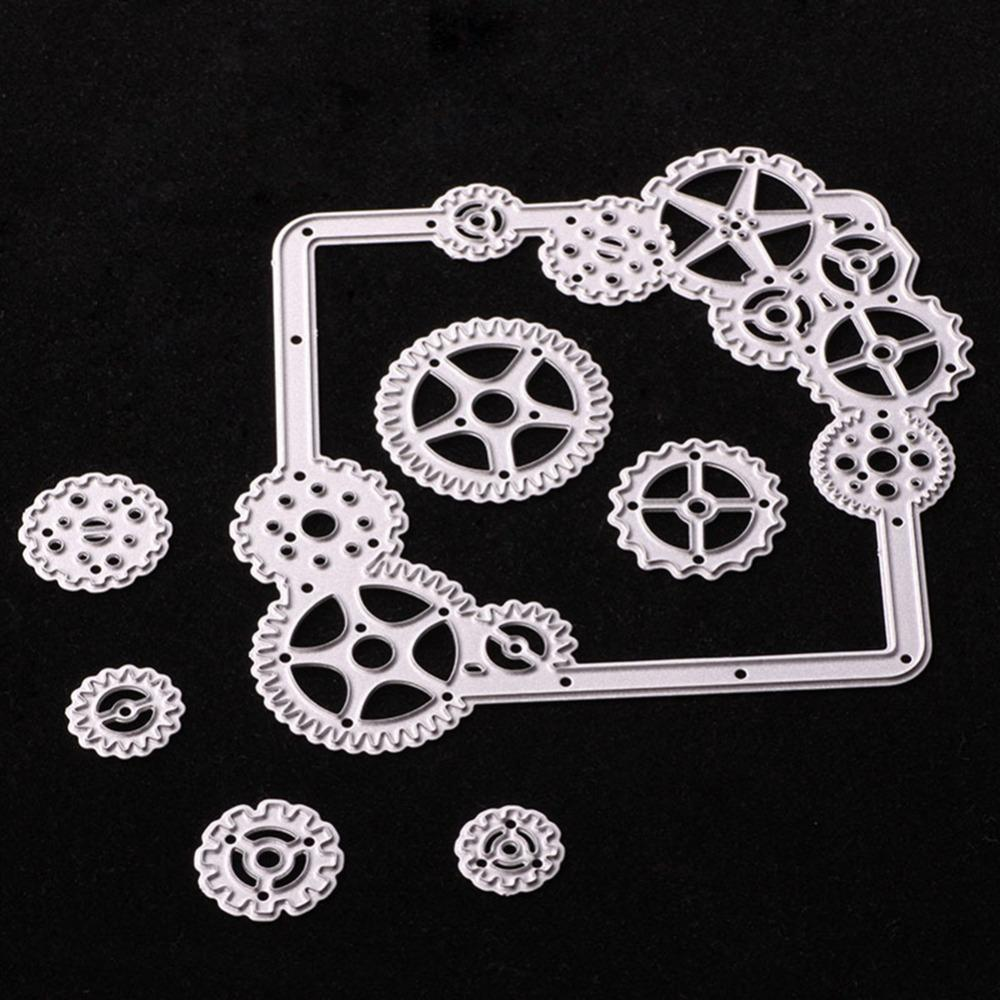 2018 Gears Carbon Steel Cookie Cutting Die Diy Scrapbooking ...