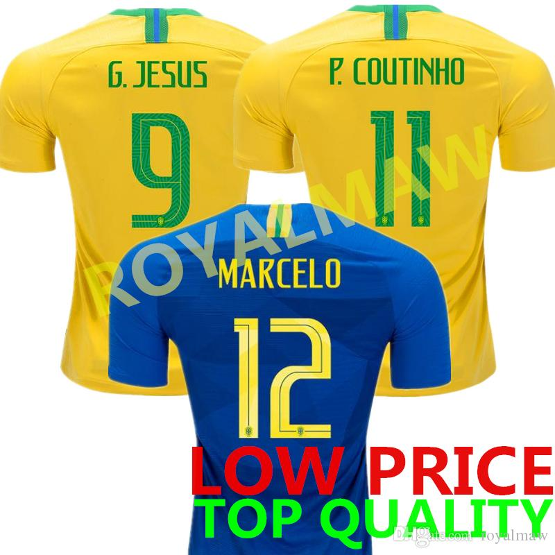 ceba0012f 2018 World Cup Soccer Jersey MARCELO P. COUTINHO Football Shirt ...