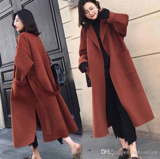 Black Womens Coat With Belt Extra Long Warm Winter Hipster Jacket Coats  Womens Outerwear Overcoat Oversized Wool Coat UK 2019 From Fashionfirst c3ed2eaa3