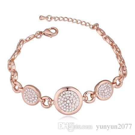 High End Refinement Real Gold Austrian Crystal Bubble Circle Geometric Fashion Fine Jewelry Accessories Statement Bracelets Bangle For Women