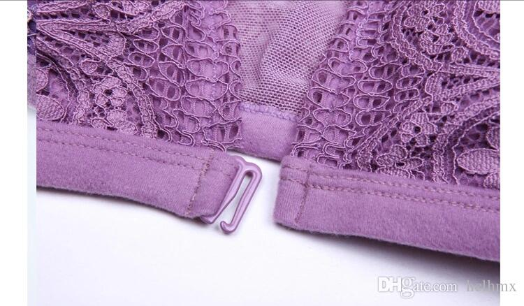 In-Stock Items Supply Type and New Design Sheer Black White Purple Panty See Through Lace Panties and Triangle Lace Bra with Removable Pad