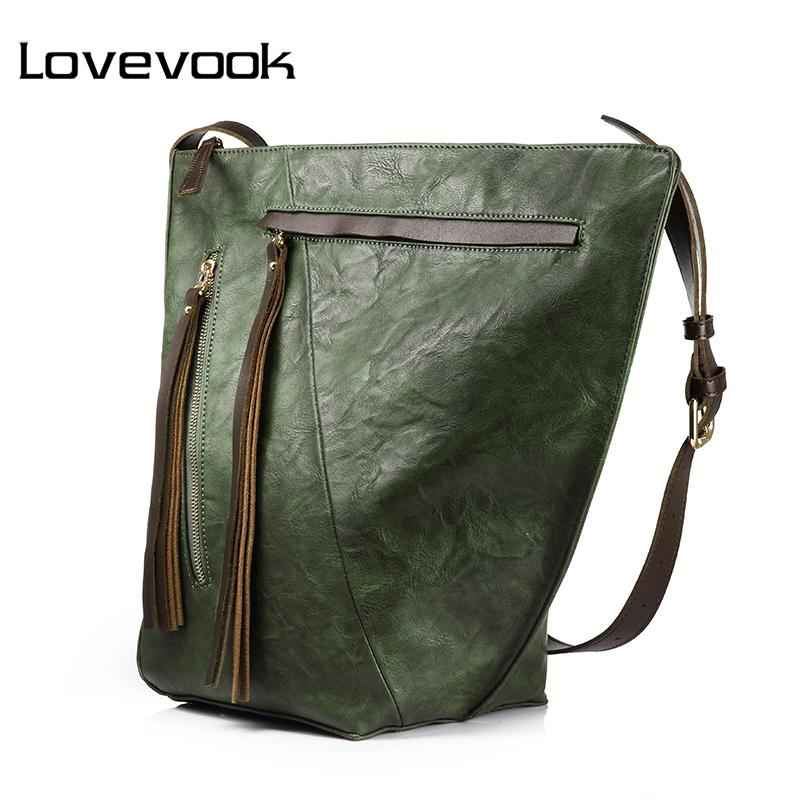 Lovevook Handbag Female Large Capacity Bucket Bag Women Shoulder Crossbody  Bag Ladies Messenger Bags With Tassel High Quality Fashion Bags Leather Bags  For ... 023a4c16282a0