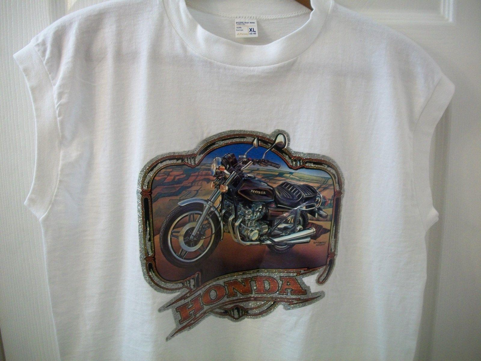 Vintage Honda Motorcycle T Shirt L Muscle Tank Sleeveless Biker