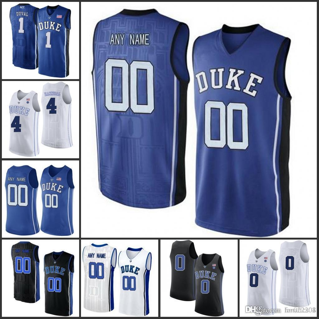 8ab0d74bbeb4 Custom Ncaa Men Duke Blue Devils College Basketball Jerseys Any Name ...