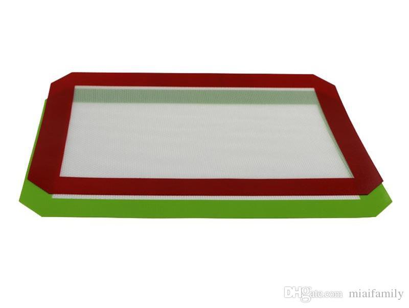ماتس سيليكون Dab غير عصا للشمع 30 سم × 21 سم 11.81 × 8.27 بوصة سيليكون الخبز حصيرة Dab النفط خبز الجاف عشب