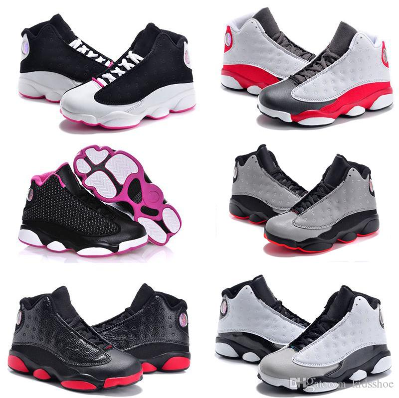 Baby 13 Kids Basketball Shoes Youth Children S Athletic 13 Sports Shoes For  Boy Girls Shoes Size 28 35 Running Spikes Girls Boys Sports Slippers From  ... ee373bea9581