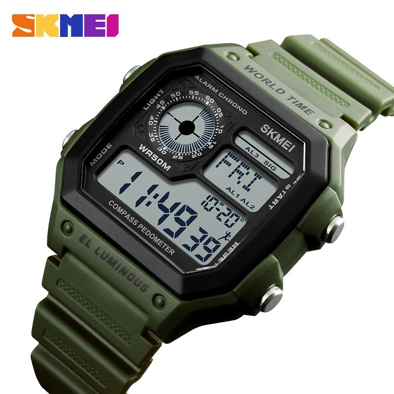 Herrenuhren Skmei Top Luxus Digitaluhr Männer Mode Sportuhren Wasserdichte Elektronische Männer Armbanduhren Relogio Masculino Digitale Uhren