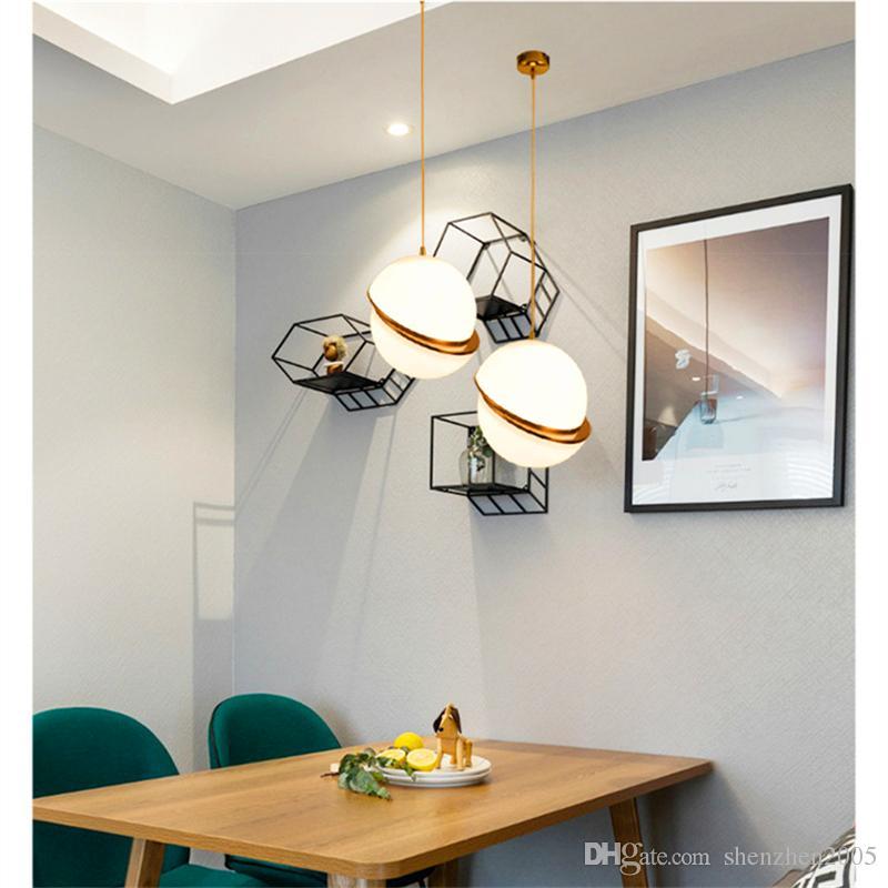 Großhandel Art Decor Designer Anhänger Mond Licht Glaskugel Hängende  Leuchten Kreative Moderne Runde Pendelleuchte Für Home Bar Decor Von  Iris128, ...