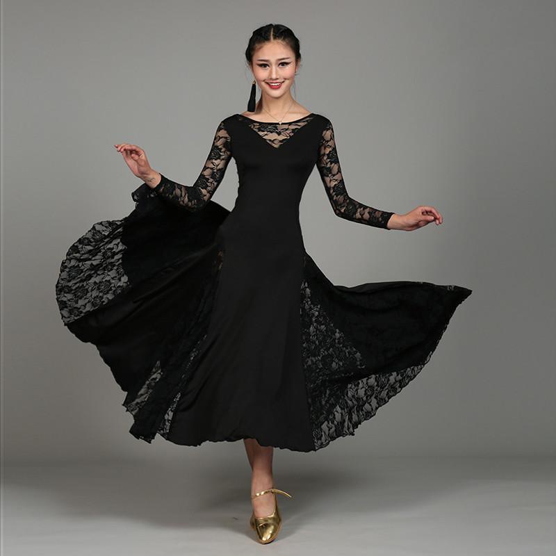 7a1dda7971812 6 couleurs de lait nouvelle fibre moderne robe de danse féminine pratique  de salle de bal valse pratiques uniformes danse grand ourlet