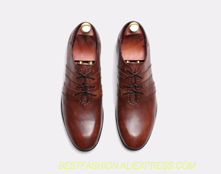 9d9c76d7cc Compre Sapatos De Casamento Vermelho Homens De Couro Genuíno Rendas ...