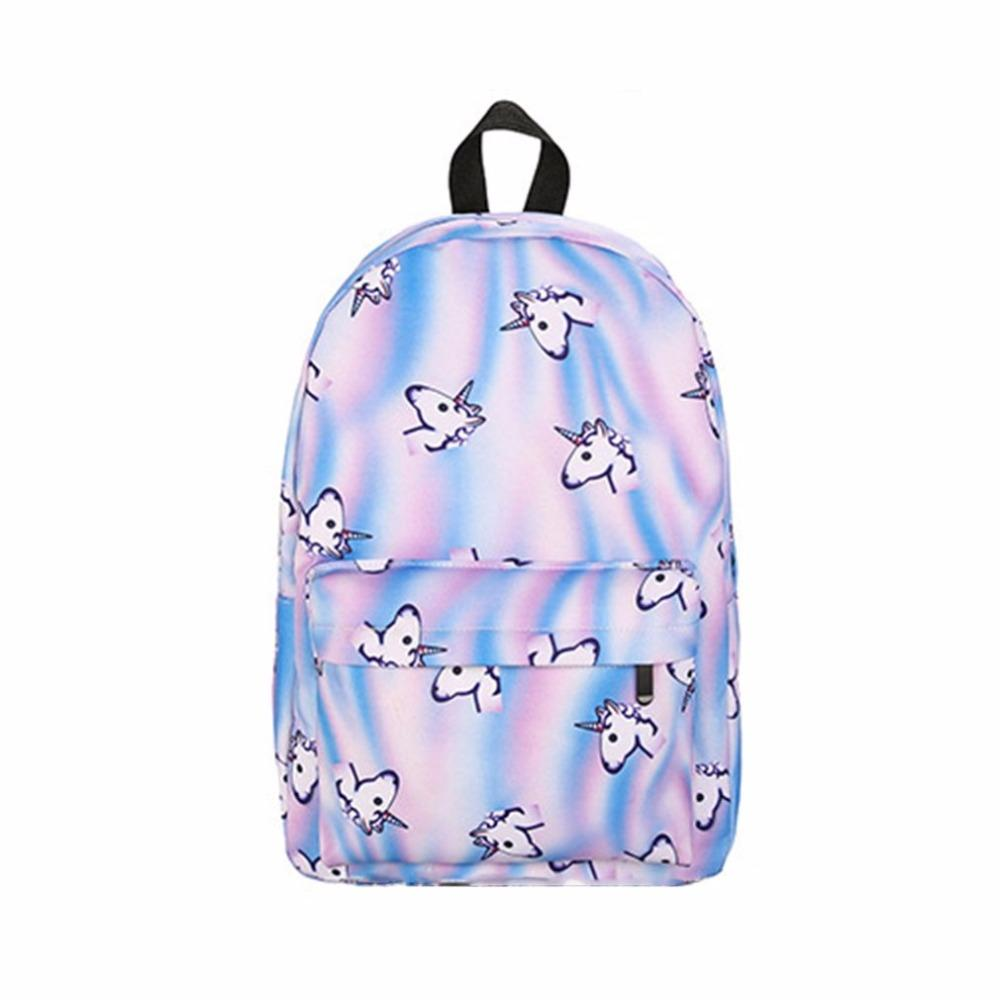 Women Backpack Cartoon 3D Printing Unicorn Backpack Teenage Girls School Bag  Gift For Young Lady ZX218103 Mens Backpacks Swiss Army Backpack From Yera b0288d4da4261