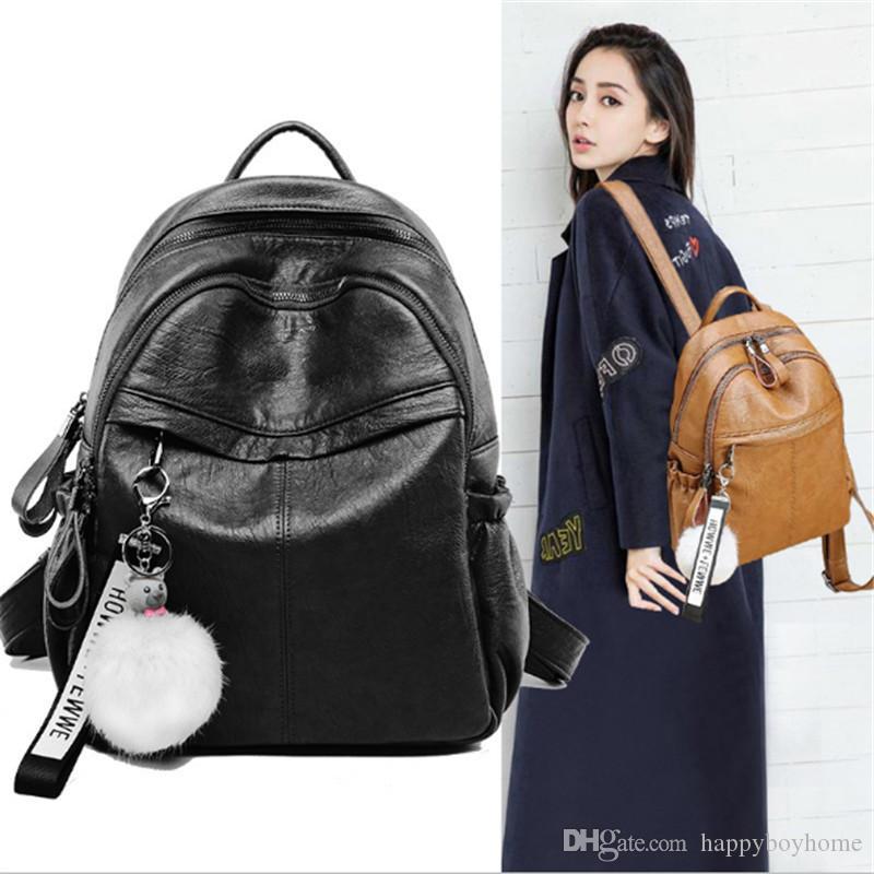 6bb43250d6e3 Manufacturer Wholesale 2018 New Fashion Cowhide Lady Shoulder Bag Multi  Function Practical Backpack Fashion Travel Backpack Leather Bag Backpacks  For Women ...