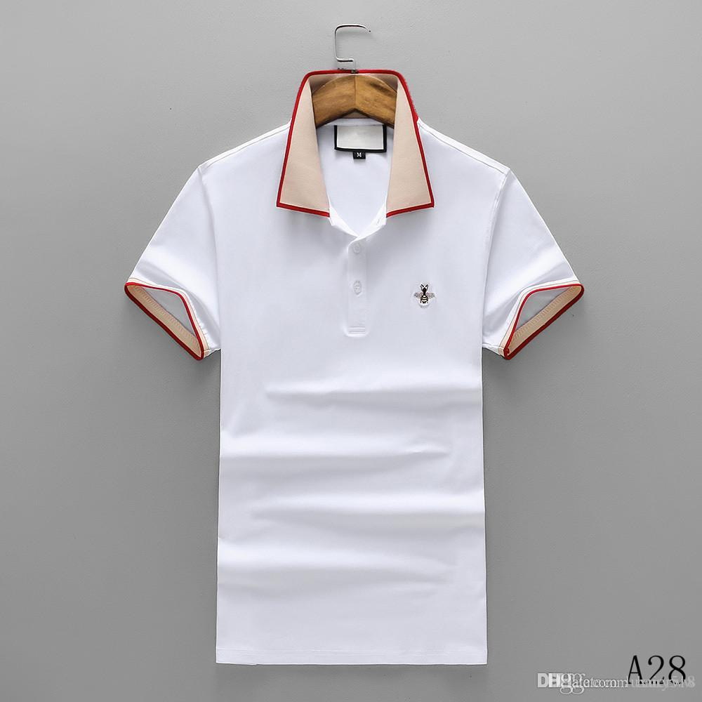 a6cf90ad Spring Summer 2019 Polo Shirt Fashion Designer Short Sleeved Polo T Shirts  Men Tee Design Printing Poloshirt Clothes Polos Tops 3XL Awesome T Shirt  Designs ...