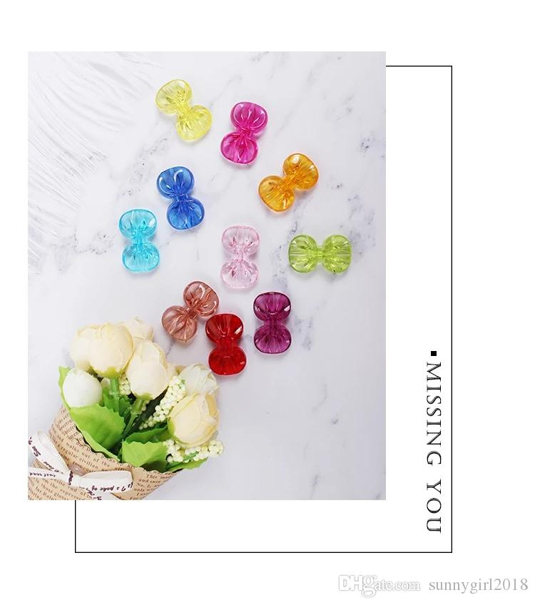 free shipping bow beads with holes DIY jewelry used for baby making diy jewelry and toys used for christmas tree dress up