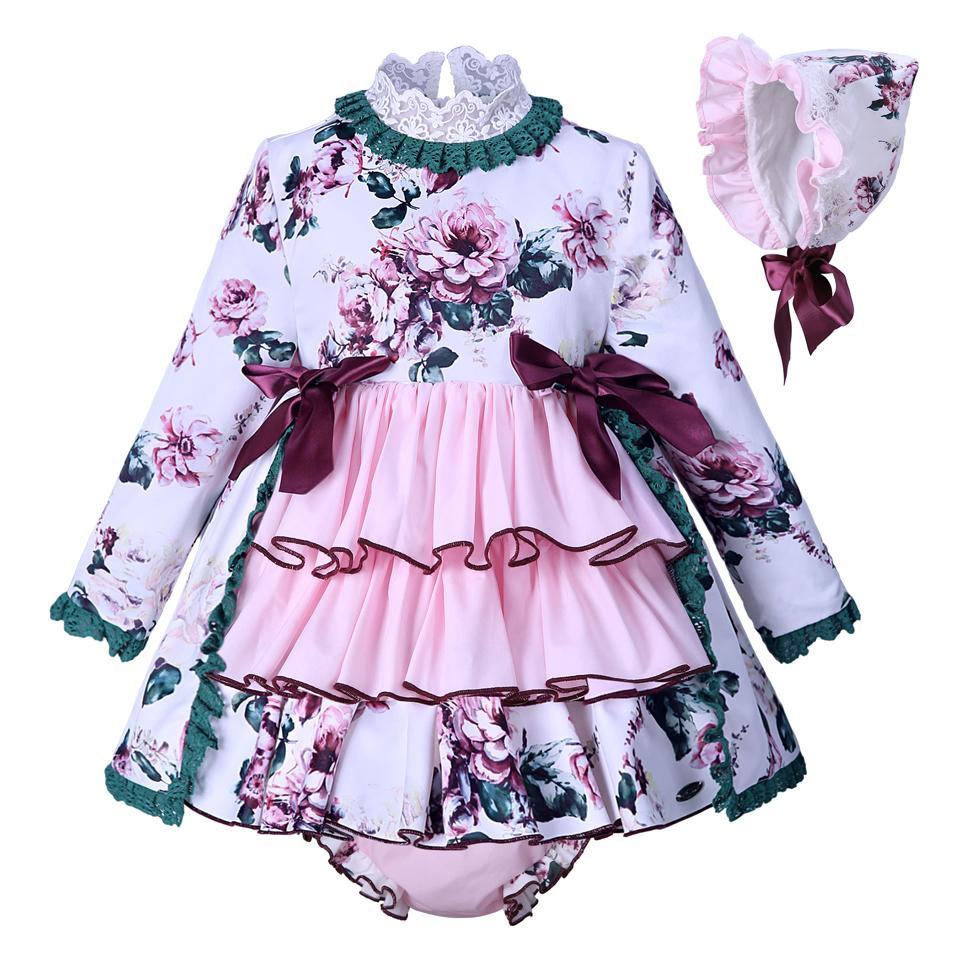 bbbad1eea9c7 Acquista Pettigirl New Autumn Bambini Abiti Ragazze Stampa Baby Dress Con  Cappello PP Pantaloni Boutique Ragazze Abbigliamento G DMCS007 A153  Y1891308 A ...