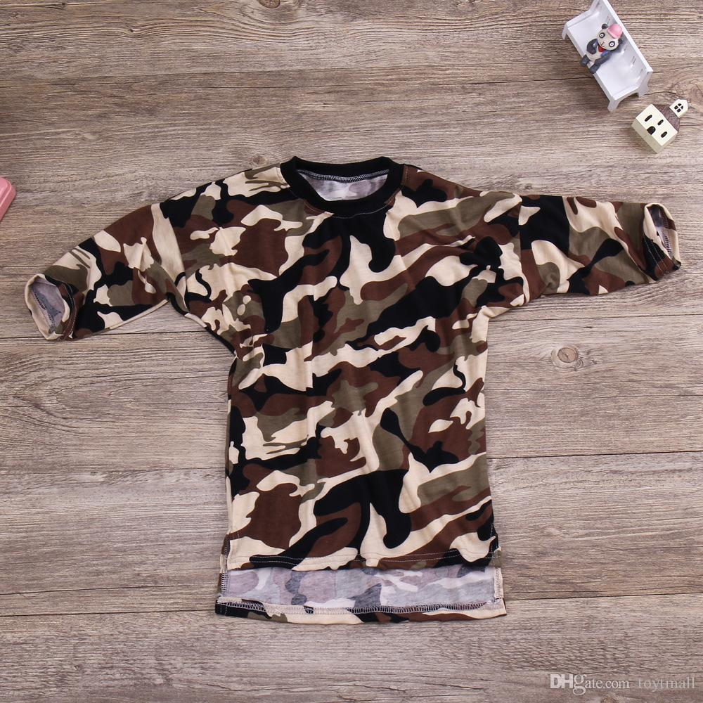 baby girl long t shirt camouflage army dresses 2017 kid summer autumn dress long sleeve girls tshirts cotton childrens boutique clothing