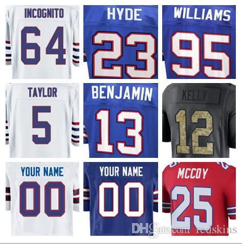 2019 Hot Sale Buffalo LeSean McCoy Bills Jersey Custom Tre Davious White  Thurman Thomas Authentic Sports Youth Kids American Football Jerseys Xxx  From Ca777 ... 1093b6098