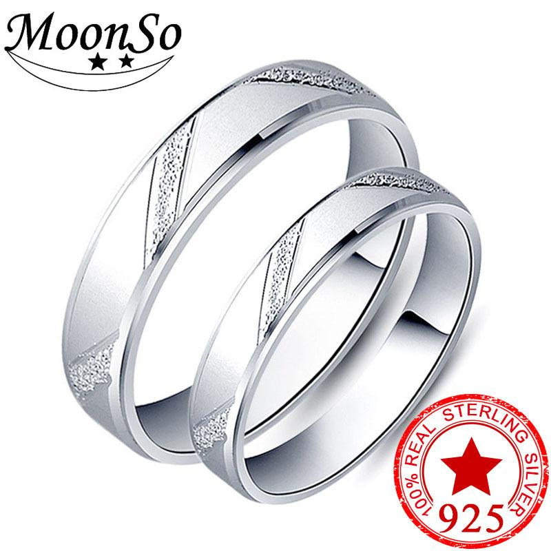 7e531bc744 2019 925 Sterling Silver Couple Ring Men And Women Finger Design Promise  For Lovers Love Band Wedding Engagement Jewelry R4343S Y1891205 From Tao03,  ...