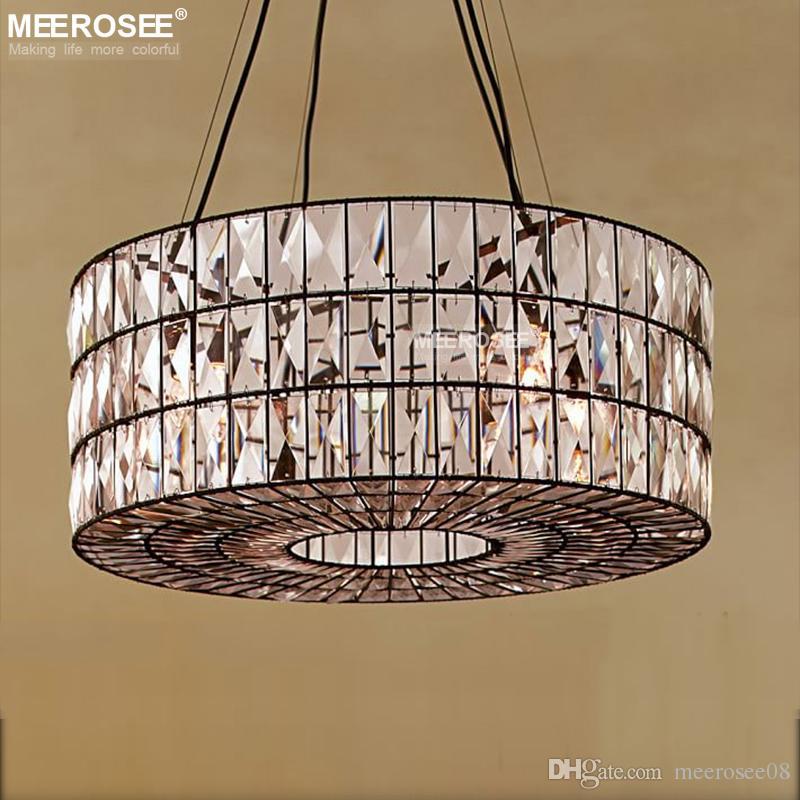 Großhandel Vintage Kristall Kronleuchter Leuchte Runde Hängende Beleuchtung  Für Restaurant Foyer Kristall Lampe Home Leuchten Von Meerosee08, $792.9  Auf De.