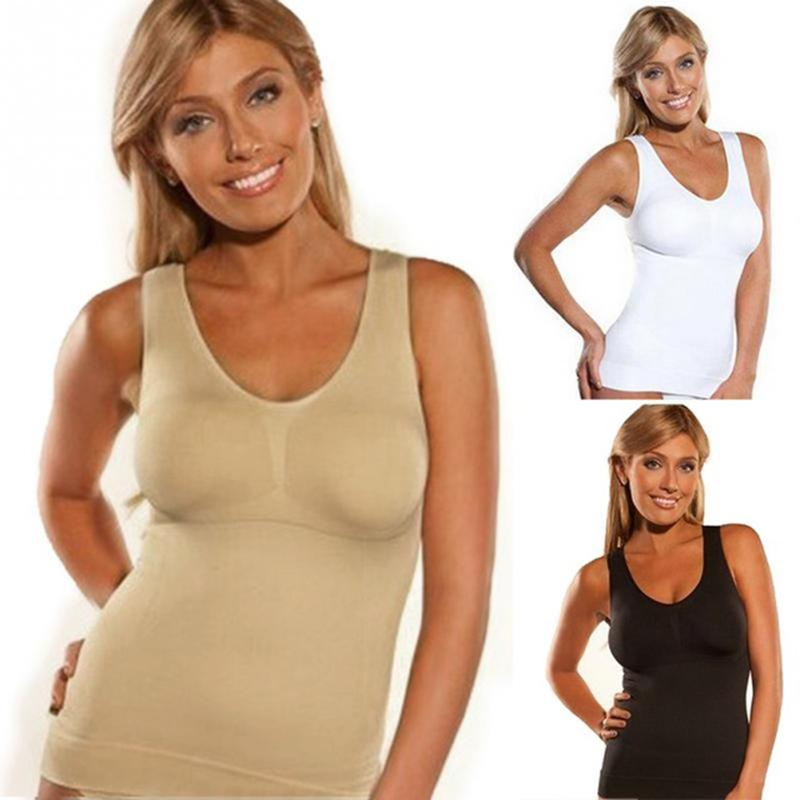 b5fa7786f1 2019 Body Shaper Slim Up Lift Plus Size Bra Cami Tank Top Women Thin  Seamless Corset Hot Shaper Underwear Slimming Vest Shapewear From  Sunflowery