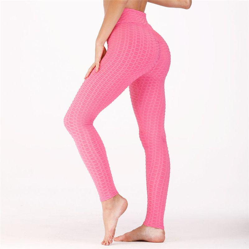 df125628ae8b1 Stretchy Yoga Pants Solid Color Gym Tights Tummy Control High Waist Sport  Leggings Running Pants Women Trousers Yoga Pants Cheap Yoga Pants Stretchy  Yoga ...