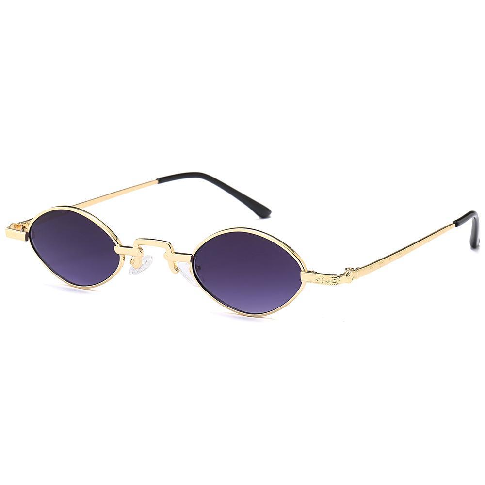 Compre Pequeno Elíptico Óculos De Sol De Metal Tendência Pequenos Olhos  Clássico Retro Vintage De Metal Oval Mulheres Moda Sombra De Supaonline, ... 998f9e802b