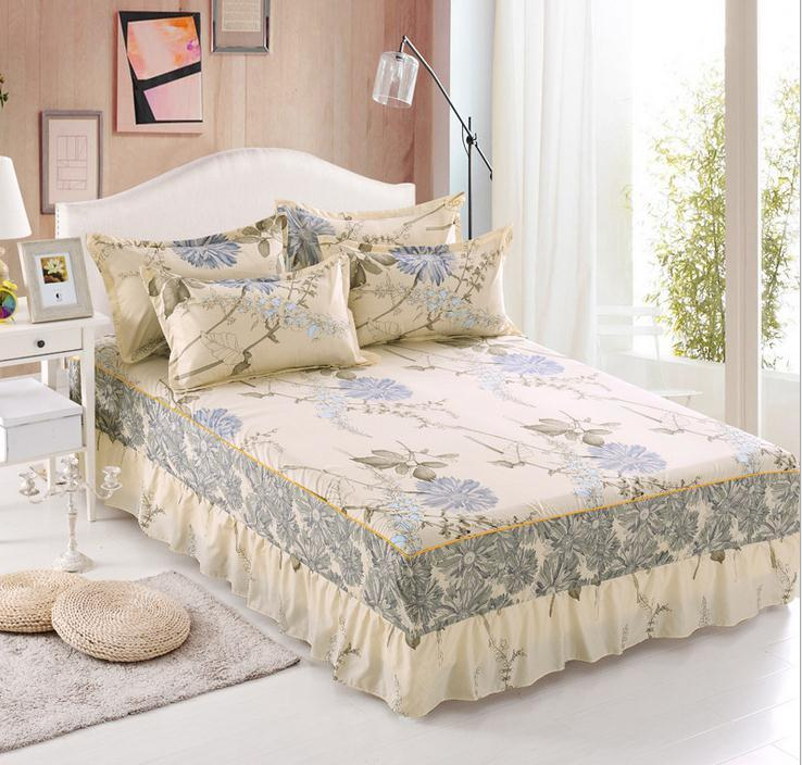 Twin Full Queen Size Bed Skirt With Elastic Bedspreads Bedding