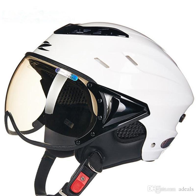 Acheter Zeus Demi Visage Moto Casque Moto électrique Scooter Velo