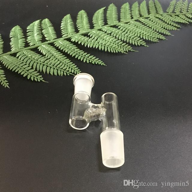 Glass reclaimer catcher 14mm female to 18.8mm male and 18.8 female to 14mm male catcher Z adapter for glass bongs