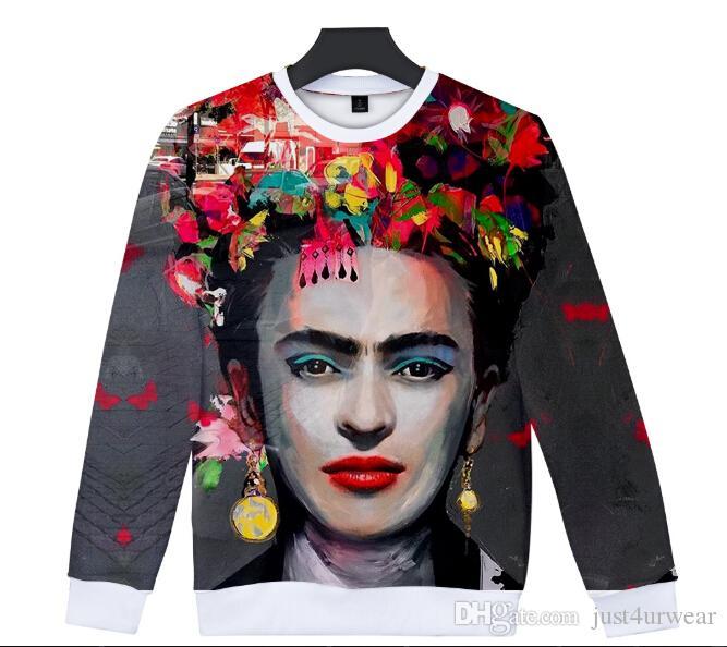 eb0e3f7ea49 Acheter Femmes Pull À Capuche Manches Longues Tshirt Sweat Mexique Peintre  Frida Kahlo 3D Impression Numérique Femmes Vêtements Femme Mode Pull De   28.27 Du ...