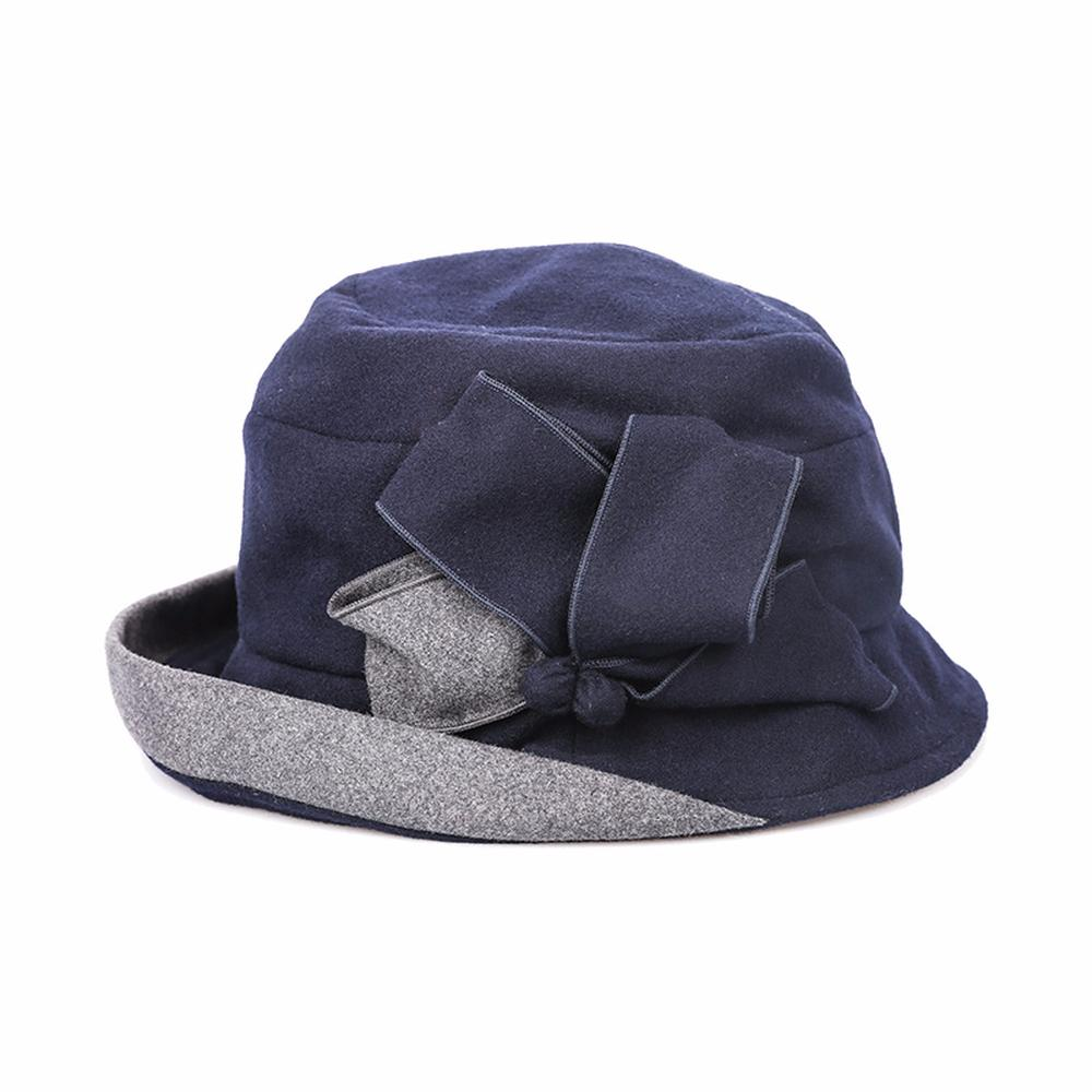cd95deab783 2018 New Women Autumn Winter Color Collision Curling Dome Bucket Hat ...