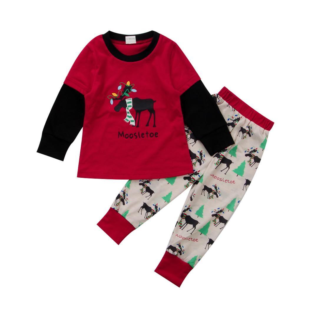 Family Christmas Pajamas 2019 Uk.Family Christmas Party Pajamas Sets Xmas Women Men Kids Baby Nightwear Sleepwear Pajamas Suit Print Winter Home Deer
