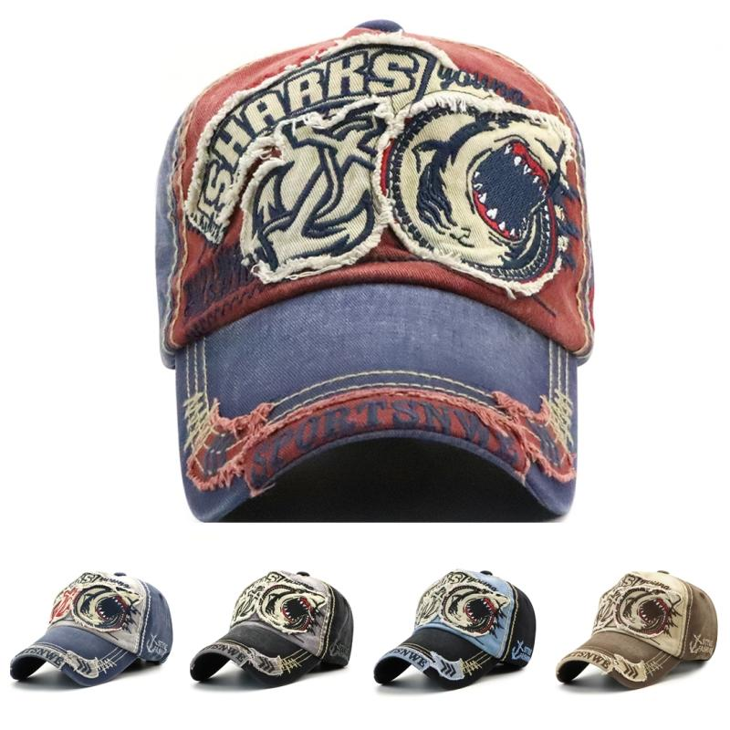 cf2e5b935d3f0 Hot Brand Baseball Caps Fashion Sharks Camo Ball Hat High Quality Cotton Print  Trucker Hat Curved Sport Sun Hat Fashion Designer Leisure Cap Baseball Cap  ...