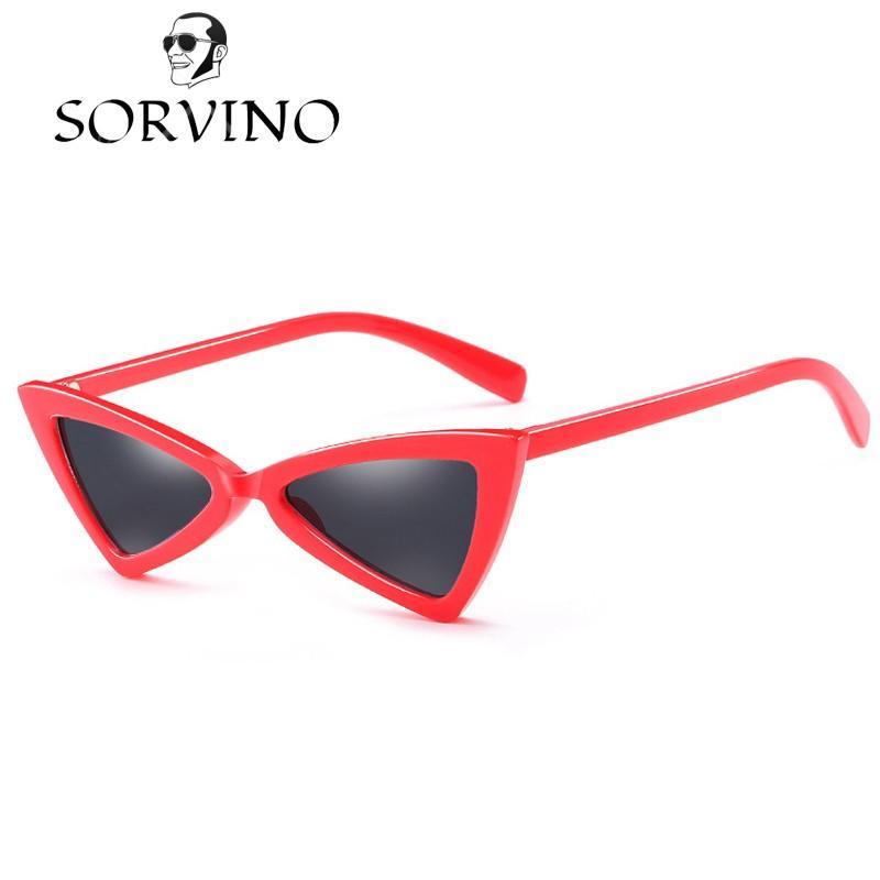 Compre Sorvino 2018 Gafas De Sol Del Triángulo Rojo Mujeres ...