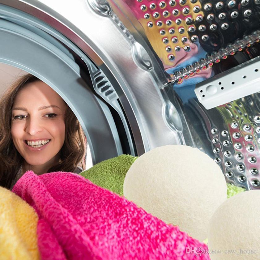 Wool Laundry Balls for dryer washing machine Premium Wool Dryer Balls Reusable Natural Fabric Softener 6CM
