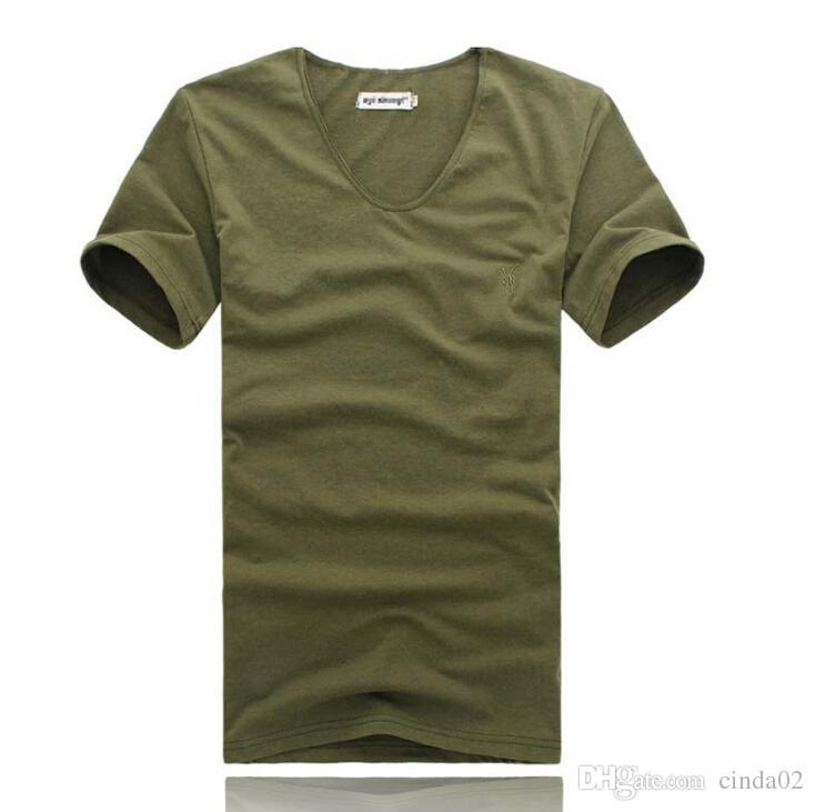 O Neck Hip Hop T Shirt Men Urban Kpop Embroidery T Shirt Simple