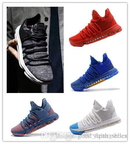 3388ce05e685f 2019 New Zoom KD 10 Anniversary University Red Still Kd Igloo BETRUE Oreo  Men Basketball Shoes USA Kevin Durant Elite KD10 Sport Sneakers KDX A01 From  ...