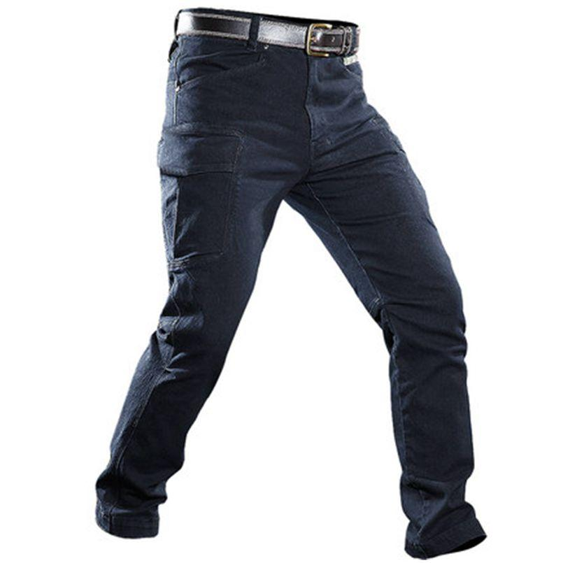 2019 Men Combat Cargo Jeans Tactical Army Pants Men Casual Motorcycle Denim  Biker Jeans Stretch Multi Pockets Pants From Beenlo 23fc7ab8d43