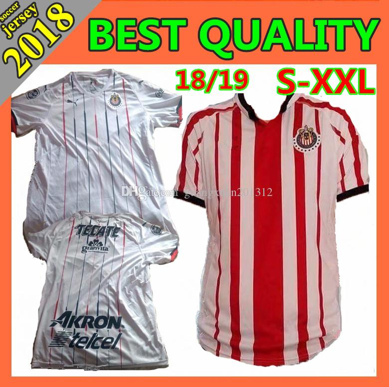 Size S-XXL18 19 Mexico Club Chivas De Guadalajara Home Away 2018 ... b183c4efe